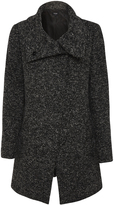 Oxford Rosaline Funnel Cllr Coat Blk/Gry X