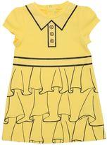 Little Marc Jacobs Glitter Details Light Sweatshirt Dress
