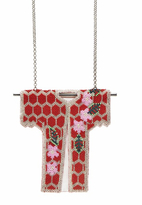 Forest of Chintz Floral Kimono Pendant Necklace