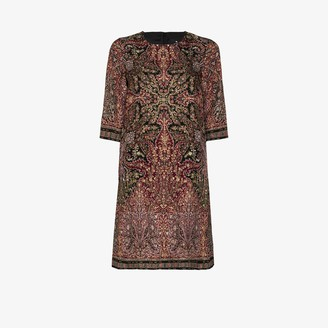 Etro Textured Shift Midi Dress