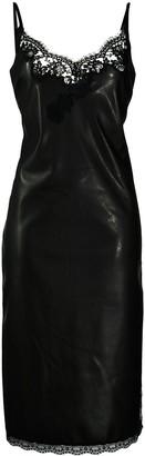 Ermanno Ermanno Lace-Panel Slip Dress