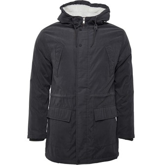 DuFFS Mens Parka Jacket Charcoal