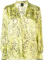 Pinko snake print shirt