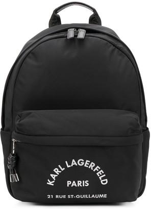 Karl Lagerfeld Paris Address-print backpack