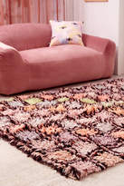 Urban Outfitters Cleo Checked Shag Rug