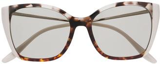Prada Tortoiseshell Cat-Eye Frame Sunglasses