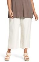 Eileen Fisher Plus Size Women's Silk Noil Wide Leg Pants