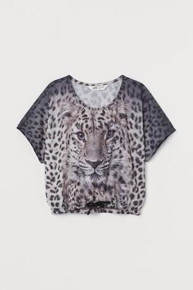 H&M Drawstring jersey top