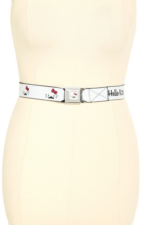 Hello Kitty Mustache Seat Belt Belt