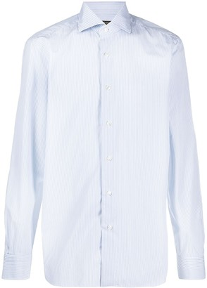 Barba Striped Spread Collar Shirt