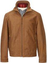 Roundtree & Yorke Smooth Buffalo Leather Hipster Jacket