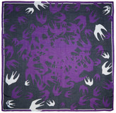 McQ by Alexander McQueen Purple Swallow Swarm Scarf
