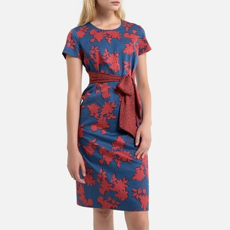 Anne Weyburn Cotton Knee-Length Dress in Floral Print
