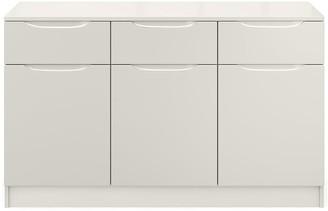 Ideal Home BilbaoReady Assembled Large High Gloss Sideboard - Grey