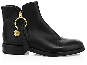 See by Chloe Women's Louise Flat Leather Ankle Boots