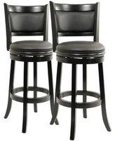 Boraam 5829 Augusta Bar Height Swivel Stool, 29-Inch, Black, 2-Pack