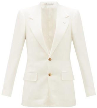 Umit Benan B+ - Single-breasted Blazer - White
