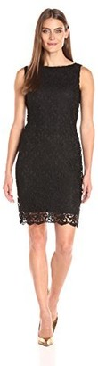 Tiana B T I A N A B. Women's Lace Scallop Hem Sheath Dress Sleeveless