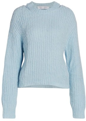 Proenza Schouler White Label Brushed Alpaca-Blend Sweater