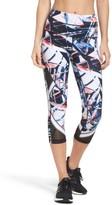 Zella Women's Mesh-Up High Waist Crop Leggings