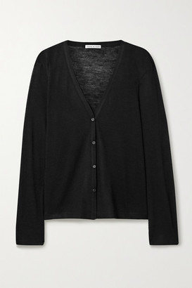 FRANCES DE LOURDES Sammy Cashmere And Silk-blend Cardigan - Black