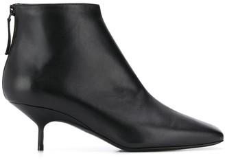 Pierre Hardy Square Toe Kitten Heel Boots