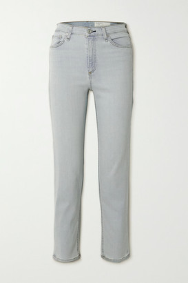 Rag & Bone Nina High-rise Straight-leg Jeans - Light denim