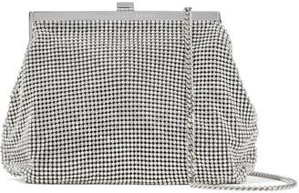 Stella McCartney Frame Mini Crystal-embellished Chainmail Shoulder Bag