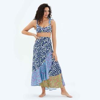 Summersalt The Beach to Brunch Wrap Skirt - Multi Brushstroke