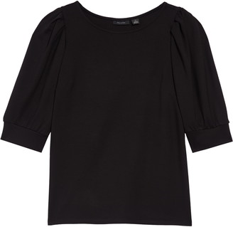 Halogen Puff Sleeve Knit Top