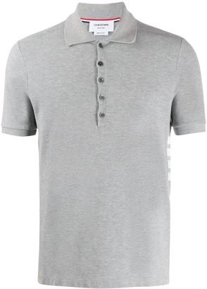 Thom Browne 4-Bar rib cuff polo shirt