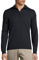 HUGO BOSS Quarter-Zip Turtleneck Pullover