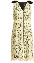 Marc Jacobs Sleeveless guipure-lace and silk dress