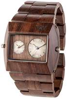 WeWood watch Wood / wooden JUPITER RS CHOCOLATE Dual Time 9818101 Men's Watches