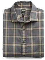 Todd Snyder Spread Collar Grey Tan Check Shirt