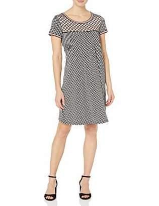 Lark & Ro Women's Short Sleeve Scoop Neck T-Shirt Dress