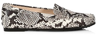 Tod's Gommino Python-Embossed Leather Driving Loafers