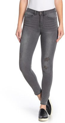 Noisy May Lucy Coffee Distressed Skinny Jeans