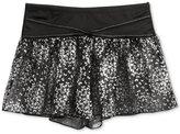 Capezio Metallic-Print Flowy Dance Shorts, Little Girls (2-6X) & Big Girls (7-16)