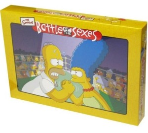 Areyougame Battle of the Sexes - The Simpsons Edition Board Game