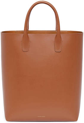 Mansur Gavriel Calf North South Tote in Saddle | FWRD