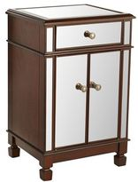 Pier 1 Imports Hayworth Mirrored Tobacco Brown Bedside Chest