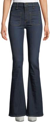 Veronica Beard Florence Flared-Leg Denim Pants
