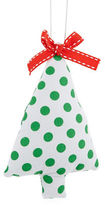 Lord & Taylor Polka Dot Christmas Tree Ornament