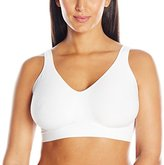 Bali Women's Comfort Revolution Wirefree Bra with Smart Sizes, White, Small