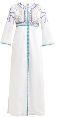 Le Sirenuse Le Sirenuse, Positano - Vanessa Embroidered Cotton Maxi Dress - Womens - White Multi