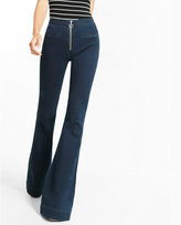 Express high waisted super soft front zip bell flare jean