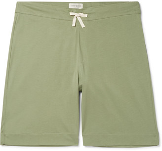 Oliver Spencer Loungewear Comfort Supima Cotton-Jersey Drawstring Shorts