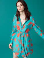 Diane von Furstenberg Mini Shirt Dress