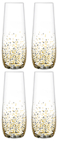 Fitz & Floyd Confetti Stemless Flutes (Set of 4)